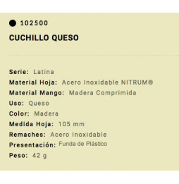 Cuchillo Arcos Queso Latina...