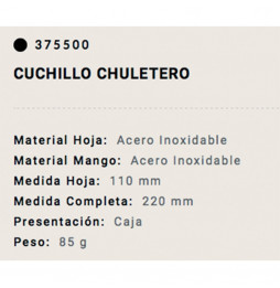Cuchillo Chuletero Arcos 11cm