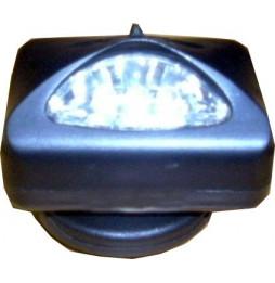 Linterna de plástico negro...